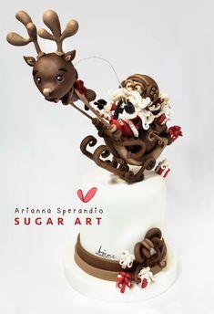 Babbo Natale in partenza - Arianna Sperandio Sugar Art