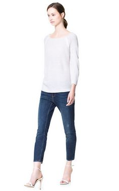 Image 1 of KNITTED SWEATER WITH DETAIL from Zara
