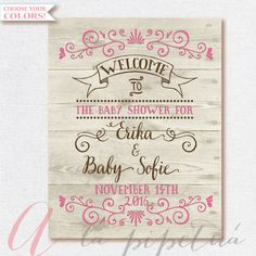 Welcome Baby Shower Sign. Wood Welcome sign. by AlapipetuaDesign