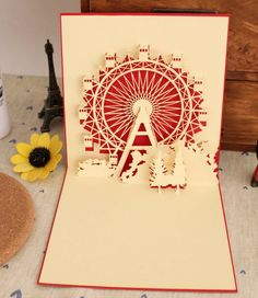 Pop up Ferris wheel card! Its beautiful~! <3