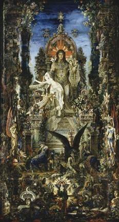 Jupiter And Semele Poster Print by Gustave Moreau Fantasy Art Mythology Modern