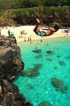 Jump Rock, Waimea Bay, Hawaii