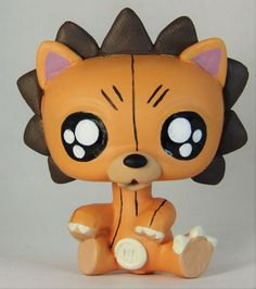 Littlest Pet Shop KON OOAK Hand Painted Custom Figure Bleach Anime Bear Lion  #Hasbro