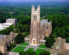 Duke University Chapel. Hopefully I'll be able to wake up and see this everyday of my college career..