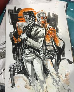 A full look at the Jesse and Cassidy commission for my man Patrick!! Had a lot of fun with this one, gotta revisit these guys again soon. #preacher #comics #art #commission #heroescon2016 #heroes #chrisvisions (at Charlotte Convention Center)