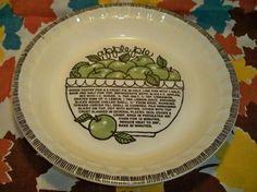 Vintage Apple Pie Plate Ceramic Jeanette