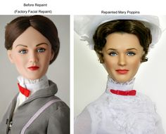 Noel Cruz (Noel Cruz) is one of the most versatile and outstanding masters repeynta (Repaint, repeynt - repainting, a new doll face by washing the original Celebrity Barbie Dolls, Realistic Barbie, Doll Painting, Disney Dolls, Disney Dresses, Doll Repaint, Mary Poppins, Doll Hair, Celebs