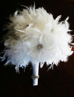Ramo de novia en plumas