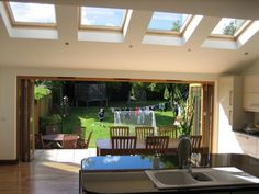 rear extension ideas single storey kitchen living - Google Search