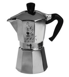 Bialetti Stovetop Espresso Maker (whistles)  Café e música...ótima combinação!