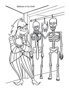 Beetlejuice Characters, Beetlejuice Cartoon, Coloring Book Pages, Coloring Sheets, Harvest Crafts For Kids, Records Diy, Halloween Coloring Pages, Cartoon Wall, 90s Cartoons