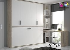small spaces for minds of wide horizons. In just one wall you get storage furniture Folding Furniture, Space Saving Furniture, Small Rooms, Small Spaces, Kids Bedroom, Bedroom Decor, Bed In Closet, Teenage Room, Bed Wall