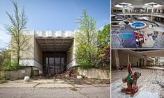 These are the eerie images of the abandoned Ohio shopping center, Randall Park Mall, which was once the biggest in the world. The mall is currently being demolished.