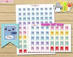 Planner Icon flag - Happy planner printable - Printable Planner Stickers Flags for Erin Condren - Filofax - Kikki K - mr wonderful  More cute