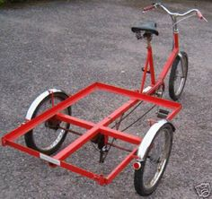Trike Bicycle Cart, Bicycle Sidecar, Tricycle Bike, Bike Cargo Trailer, Utility Trailer, Electric Cargo Bike, Food Cart Design, Bike Food, Velo Cargo