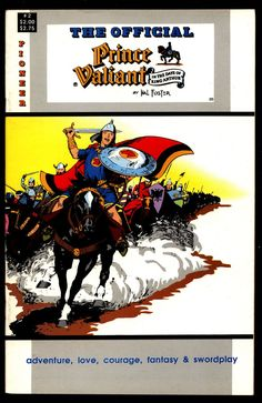 Official PRINCE VALIANT #2 Hal Harold R. Foster King Arthur's Round Table Camelot Comic Book Newspaper Funnies Reprints Pioneer Comics