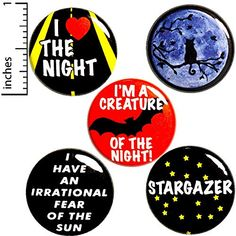 Night Owl 5 Pack Buttons Backpack Pins Stargazer Creature Of The Night Cute Gift Set Funny Buttons, Cool Buttons, Whiteboard Sticker, Freak Flag, Bag Pins, Jacket Pins, Cute Bee, Creatures Of The Night, Night Owl