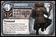 New blog post: Sunderved deck build (Mountain Vargath) (http://www.cognitivebias.org/2013/11/24/mountain-vargath-deck-build-1st-summoner/?utm_medium=Pinterest), #BoardGame, #IOS, #Strategy, #SummonerWars