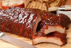 Fourth of july bbq recipes: sweet and savory pork ribs and grilled corn Baked Bbq Ribs, Barbecue Pork Ribs, Baked Pork, Grilling Tips, Grilling Recipes, Cooking Recipes, Cooking Ribs, Smoker Cooking, Smoker Recipes