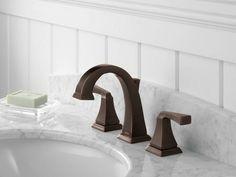Delta Dryden Widespread Bathroom Faucet With Double Lever Handles Finish Venetian Bronze