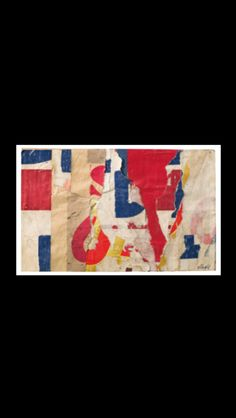 """Jacques Villeglé - """" Rue Pierre Demours """", 1 II 1958 - Décollage su tela - 14 x 21 cm"""