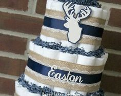 Diaper cake idea - do something similar for the guess the number of diapers game