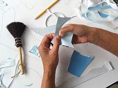 "Paper artwork ""Bridal Dress"" detail work in process by Bianca Severijns http://biancaseverijns.com/"