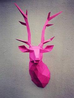 escultura de parede cervo