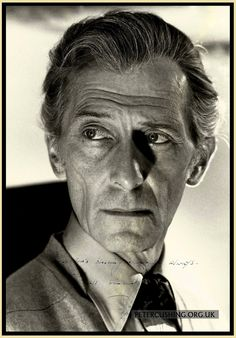 Great POSTER SIZE photograph of Peter Cushing behind the scenes on Hammer Films ' DRACULA AD 1972'.