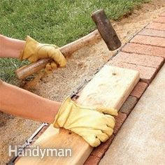 Use Brick Borders for Path Edging - Step by Step | The Family Handyman