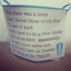 Thought this was a neat idea to get my kids to pick up after them selves