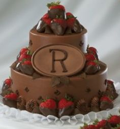 This will be Bianca's groom's cake, only instead of the letter R, it will have the letter S because her future husband's name is Seth.