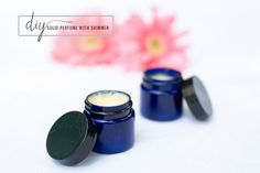 DIY solid perfume with shimmer - perfect for your purse! | HelloNatural.co