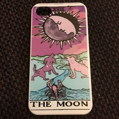 """I phone 4s case set Tarot card """"The Moon"""" for I phone 4s and Geometric Pattern phone case for IPhone 4s Accessories Phone Cases"""