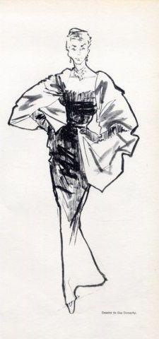 1951 - Balenciaga Evening Gown by Guy Demachy