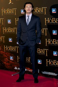 Luke Evans at the Madrid premiere of 'The Hobbit.' Styling by Jeanne Yang.