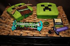 """I Lift Heavy Things: Minecraft Party Goodie """"bags"""""""