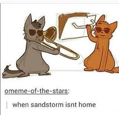 warrior cats graystripe and firestar, WHEN SANDSTORM ISNT HOME