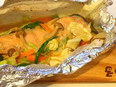 漁師町の*ホイル包み鮭のちゃんちゃん焼きの画像