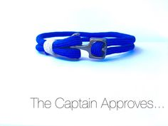 """Sailing Bracelet with paracord and Black anchor """"Captain's series"""" by…"""