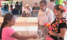 Mexican mayor marries a crocodile dressed in a beautiful white dress