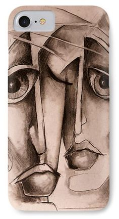 Urban Expressions Painting - together by Michael Lang Abstract Face Art, Abstract Portrait, Portrait Art, Cubism Art, Human Art, Surreal Art, Art Pages, Figurative Art, Oeuvre D'art