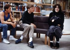 Anthony Michael Hall (as Brian Johnson),Emilio Estevez (as Andrew Clark) and Ally Sheedy (as Allison Reynolds) in The Breakfast Club 80s Movies, Great Movies, Movie Tv, Mike Nichols, The Breakfast Club, Ally Sheedy Breakfast Club, Joy Division, Breakfest Club, Emilio Estevez