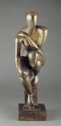 Raymond Duchamp-Villon, Woman Sitting, 1914, Bronze, National Museum of Modern Art - Georges Pompidou Center, Paris
