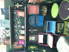This is my booth at KK's Craft Mall in Lubbock.  Many different Upcycled home decor and furniture.  Cathy @ Upcycled Diva