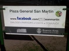 Hasta la Plaza San Martin tiene facebook