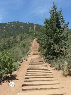 The incline in Manitou Springs, CO...this thing will for sure burn that baby phat. It's a killer!