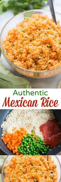 The BEST, truly authentic Mexican rice! Super easy to make from home, and a necessary side dish for all of your favorite Mexican recipes.   tastesbetterfromscratch.com