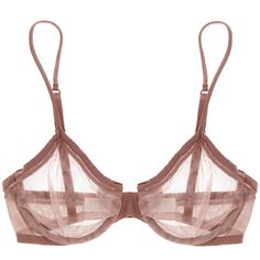 LA PERLA MELANIE Rosy Brown Sheer Bra ($69) ❤ liked on Polyvore