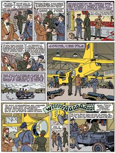 Théo Van den Boogaard: his test page for continuing Blake & Mortimer, rejected by Dargaud